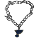 Siskiyou Buckle HCBR15 St. Louis Blues Charm Chain Bracelet