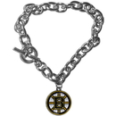 Siskiyou Buckle HCBR20 Boston Bruins Charm Chain Bracelet