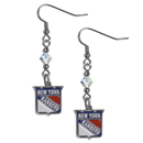 Siskiyou Buckle HCE105 New York Rangers Crystal Dangle Earrings