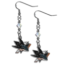 Siskiyou Buckle HCE115 San Jose Sharks Crystal Dangle Earrings
