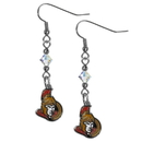 Siskiyou Buckle HCE120 Ottawa Senators Crystal Dangle Earrings