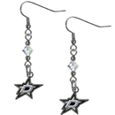 Siskiyou Buckle HCE125 Dallas Stars Crystal Dangle Earrings