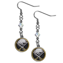 Siskiyou Buckle HCE25 Buffalo Sabres Crystal Dangle Earrings
