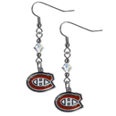 Siskiyou Buckle HCE30 Montreal Canadiens Crystal Dangle Earrings