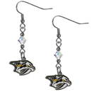 Siskiyou Buckle HCE40 Nashville Predators Crystal Dangle Earrings
