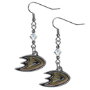 Siskiyou Buckle HCE55 Anaheim Ducks Crystal Dangle Earrings