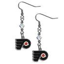Siskiyou Buckle HCE65 Philadelphia Flyers Crystal Dangle Earrings