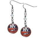 Siskiyou Buckle HCE70 New York Islanders Crystal Dangle Earrings