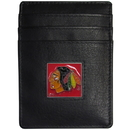 Siskiyou Buckle HCH10 Chicago Blackhawks Leather Money Clip/Cardholder Packaged in Gift Box