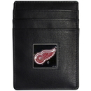 Siskiyou Buckle HCH110 Detroit Red Wings? Leather Money Clip/Cardholder Packaged in Gift Box