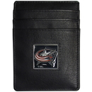 Siskiyou Buckle HCH130 Columbus Blue Jackets Leather Money Clip/Cardholder Packaged in Gift Box