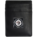 Siskiyou Buckle HCH155BX Winnipeg Jets; Leather Money Clip/Cardholder