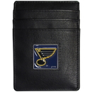Siskiyou Buckle HCH15BX St. Louis Blues? Leather Money Clip/Cardholder