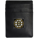 Siskiyou Buckle HCH20BX Boston Bruins? Leather Money Clip/Cardholder