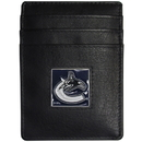 Siskiyou Buckle HCH35BX Vancouver Canucks? Leather Money Clip/Cardholder