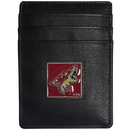 Siskiyou Buckle HCH45 Arizona Coyotes Leather Money Clip/Cardholder Packaged in Gift Box