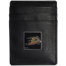 Siskiyou Buckle HCH55 Anaheim Ducks Leather Money Clip/Cardholder Packaged in Gift Box
