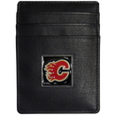 Siskiyou Buckle HCH60 Calgary Flames Leather Money Clip/Cardholder Packaged in Gift Box