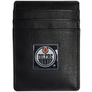 Siskiyou Buckle HCH90BX Edmonton Oilers? Leather Money Clip/Cardholder