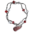 Siskiyou Buckle Detroit Red Wings Crystal Bead Bracelet, HCYB110