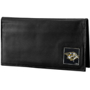 Siskiyou Buckle HDCK40BX Nashville Predators? Deluxe Leather Checkbook Cover