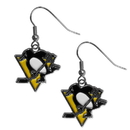 Siskiyou Buckle HDE100N Pittsburgh Penguins? Chrome Dangle Earrings