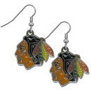 Siskiyou Buckle HDE10N Chicago Blackhawks? Chrome Dangle Earrings