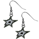Siskiyou Buckle HDE125N Dallas Stars Chrome Dangle Earrings
