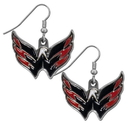 Siskiyou Buckle HDE150N Washington Capitals? Chrome Dangle Earrings