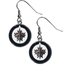 Siskiyou Buckle HDE155N Winnipeg Jets Chrome Dangle Earrings