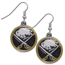 Siskiyou Buckle HDE25N Buffalo Sabres? Chrome Dangle Earrings