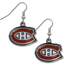 Siskiyou Buckle HDE30N Montreal Canadiens Chrome Dangle Earrings