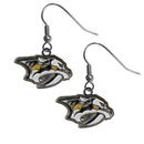 Siskiyou Buckle HDE40N Nashville Predators Chrome Dangle Earrings