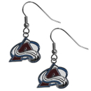 Siskiyou Buckle HDE5N Colorado Avalanche Chrome Dangle Earrings