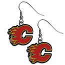 Siskiyou Buckle HDE60N Calgary Flames Chrome Dangle Earrings