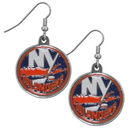 Siskiyou Buckle HDE70N New York Islanders Chrome Dangle Earrings