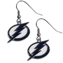 Siskiyou Buckle HDE80N Tampa Bay Lightning Chrome Dangle Earrings