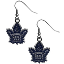 Siskiyou Buckle HDE85N Toronto Maple Leafs Chrome Dangle Earrings