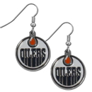 Siskiyou Buckle HDE90N Edmonton Oilers Chrome Dangle Earrings