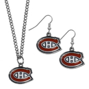 Siskiyou Buckle Montreal Canadiens Dangle Earrings and Chain Necklace Set, HDEN30HN