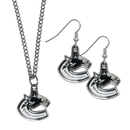 Siskiyou Buckle Vancouver Canucks Dangle Earrings and Chain Necklace Set, HDEN35HN