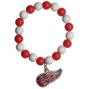 Siskiyou Buckle HFBB110 Detroit Red Wings? Fan Bead Bracelet