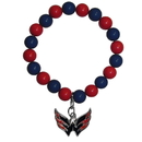 Siskiyou Buckle Washington Capitals Fan Bead Bracelet, HFBB150