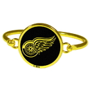 Siskiyou Buckle Detroit Red Wings Gold Tone Bangle Bracelet, HGBB110