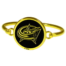 Siskiyou Buckle Columbus Blue Jackets Gold Tone Bangle Bracelet, HGBB130