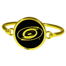 Siskiyou Buckle Carolina Hurricanes Gold Tone Bangle Bracelet, HGBB135