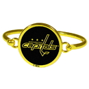Siskiyou Buckle Washington Capitals Gold Tone Bangle Bracelet, HGBB150