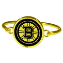 Siskiyou Buckle Boston Bruins Gold Tone Bangle Bracelet, HGBB20