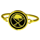 Siskiyou Buckle Buffalo Sabres Gold Tone Bangle Bracelet, HGBB25