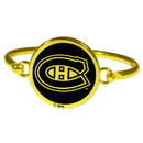 Siskiyou Buckle Montreal Canadiens Gold Tone Bangle Bracelet, HGBB30